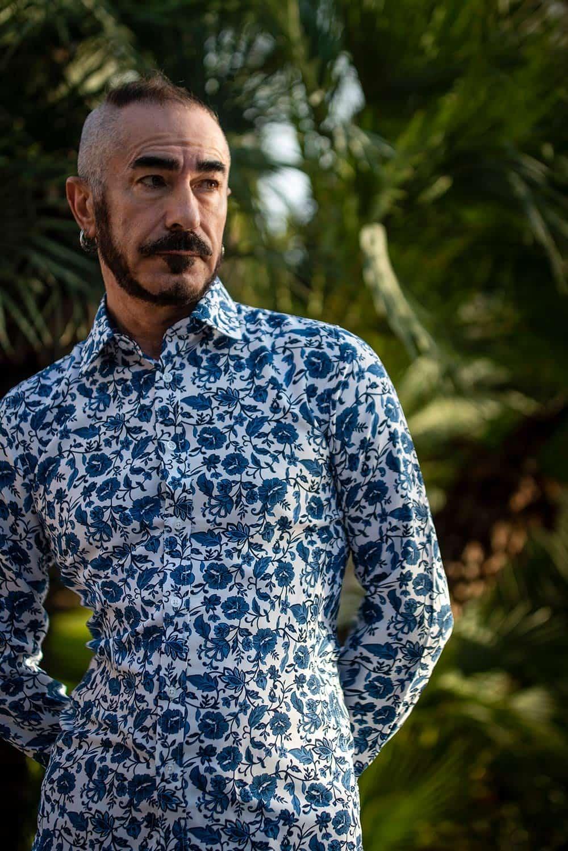 Camisa de hombre floral para fiesta