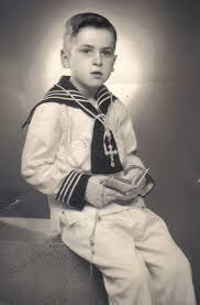 Niño comunión antigua foto
